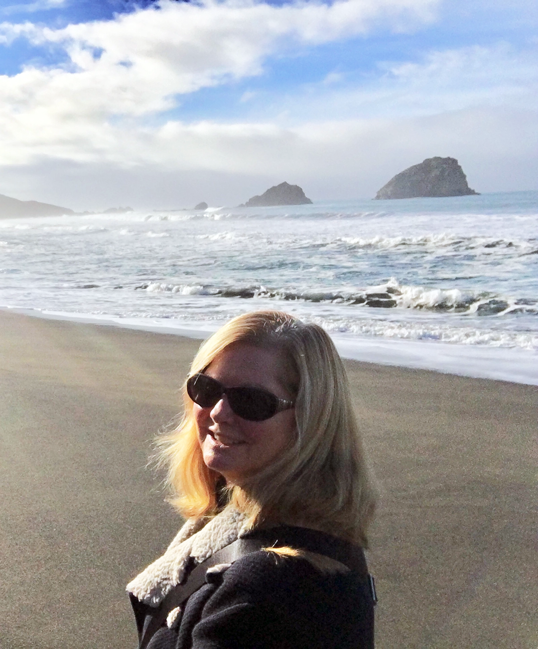 Dr. Margaret Chisolm makes time for a walk outside in the fresh ocean air.