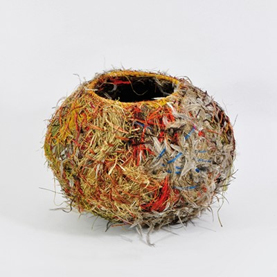 """Tjulpu wiltja: bird nest basket,"" 2017, Ilawanti Ungkutjuru Ken, as part of ""The Art of Healing: Australian Indigenous Bush Medicine"", King's College London."