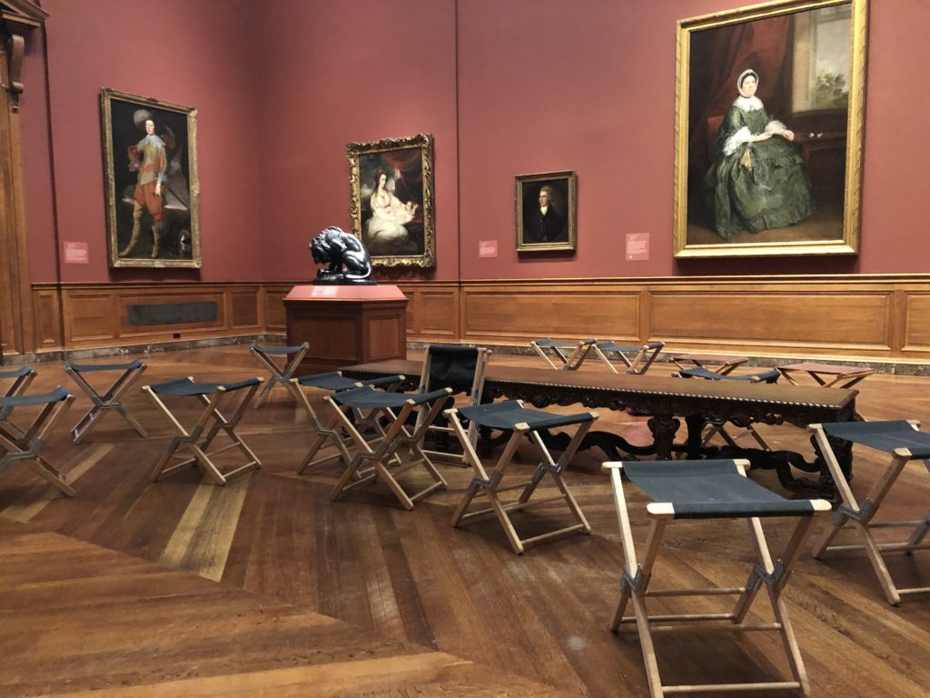 Portable stools in the Baltimore Museum of Art. Photo by the author.