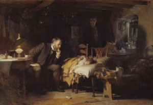 doctor and patient painting